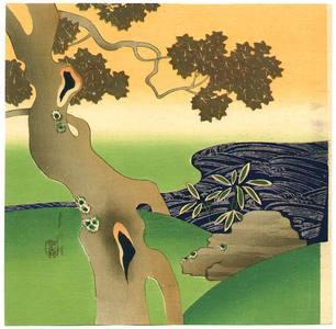 Ogata Gekko: Maple Tree and Creek - Artelino