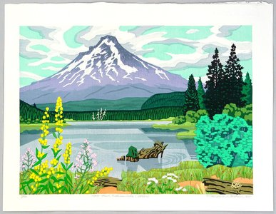 北岡文雄: Mt. Hood with Trillium Lake - Artelino