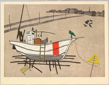 北岡文雄: Fishing Boat and Green Crow - Artelino
