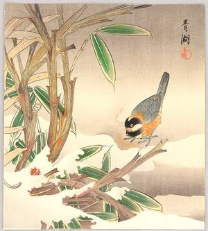 静湖: Bunting and Bamboo - Artelino