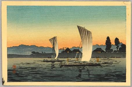 高橋弘明: Sail Boats in the Sun Set - Artelino