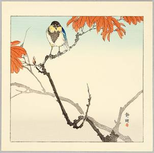 Seiko: Blue Bird and Red Leaves - Artelino