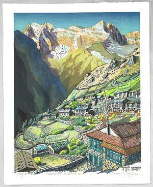 両角修: Village in the Himalayan Mountains - Nepal - Artelino