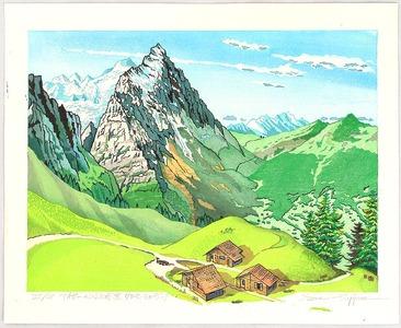 Morozumi Osamu: View of Mt.Eiger from a Pass - Switzerland - Artelino