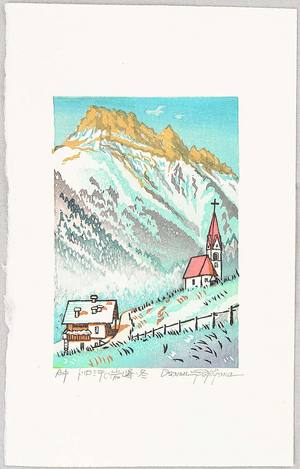 Morozumi Osamu: Rocky Peak of the Dolomites in Winter - Italy - Artelino