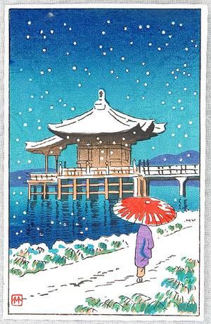 Fujishima Takeji: Ukimi-do in Snow - Artelino