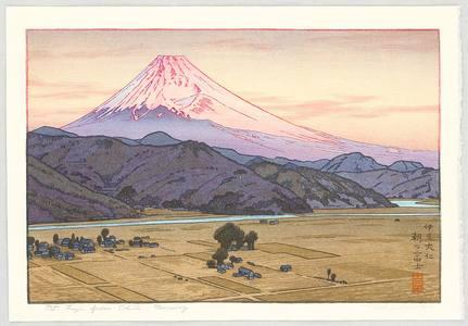 Yoshida Toshi: Mt. Fuji from Ohito, Morning - Artelino