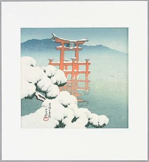 川瀬巴水: Snow Scene at Miyajima - Twelve Famous Sceneries - Artelino