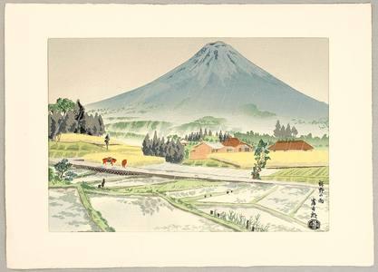 徳力富吉郎: Mt.Fuji and Susono in Rain - Artelino