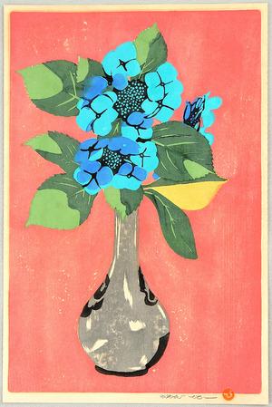 吉田博: Hydrangea in Vase - Artelino