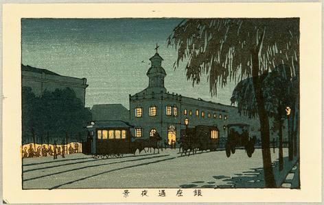 井上安治: Night View of Ginza - Artelino