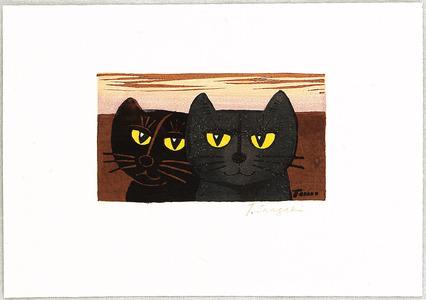 Inagaki Tomoo: Two Cats and Sunset - Artelino