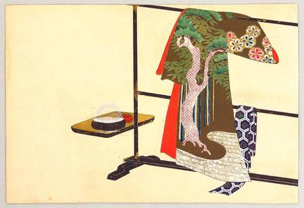 Kamisaka Sekka: Kimono on a Rack - Momo Chigusa - Artelino