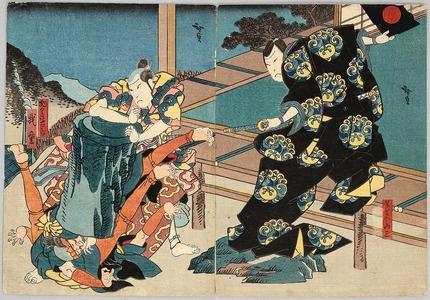 歌川広貞: Putting Some Weights - Kabuki - Artelino