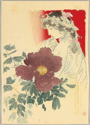 梶田半古: Beauty and Flower - Artelino