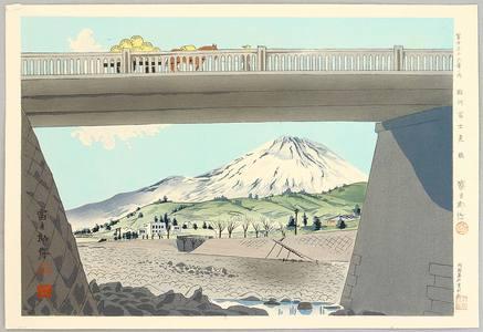 徳力富吉郎: Fujimi Bridge - Thirty-six Views of Mt. Fuji - Artelino