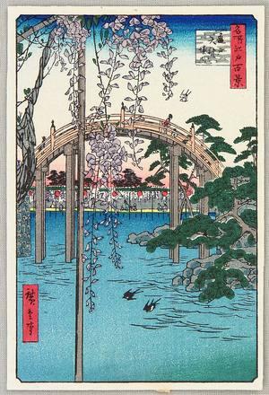 Utagawa Hiroshige: Cameido - Meisho Edo Hyakkei - Artelino