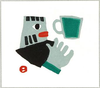 Azechi Umetaro: Mountain Man and Coffee Cup - Artelino