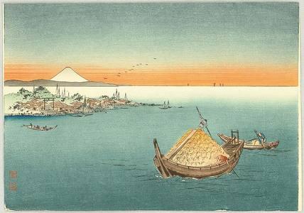 古峰: Cargo Boat and Mt. Fuji - Artelino