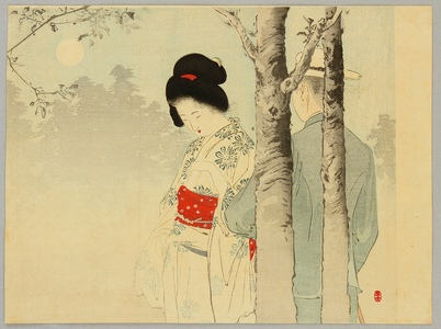 Mizuno Toshikata: Couple in the Morning Mist - Artelino