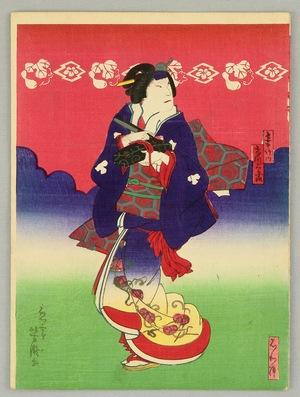 歌川芳滝: Going under Red Sky - Kabuki - Artelino