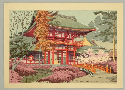 Fujishima Takeji: Red Temple Gate - Artelino