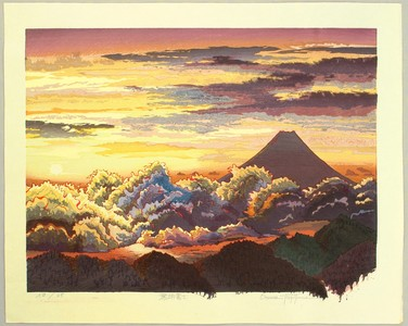 両角修: Sunrise at Mt. Fuji - Japan - Artelino