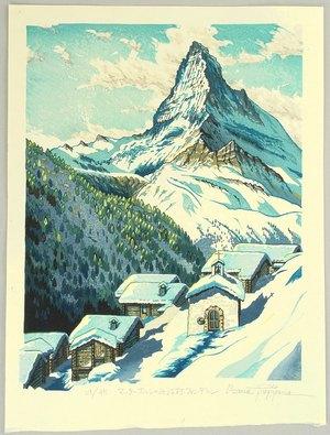 Morozumi Osamu: Viewing Mt. Matterhorn - Switzerland - Artelino