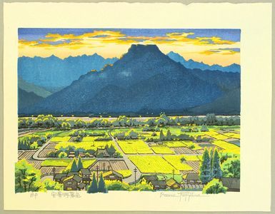 両角修: Azumino Village in Twilight - Japan - Artelino