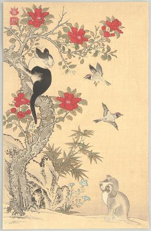伊藤若冲: Birds, Cat and Dog - Artelino