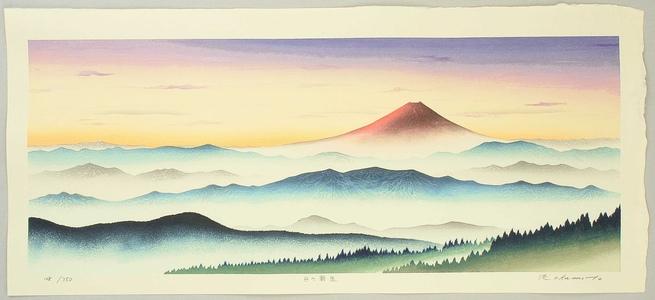 Okamoto Ryusei: Morning Glow at Mt. Fuji - Artelino