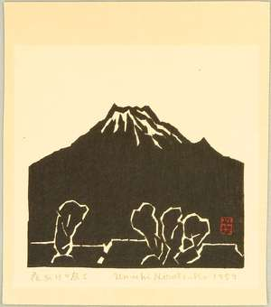 Hiratsuka Unichi: Mt. Fuji at Daybreak - Artelino