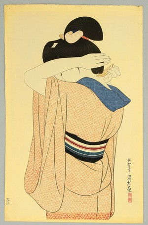 Ito Shinsui: Woman in Long Undergarment - Artelino