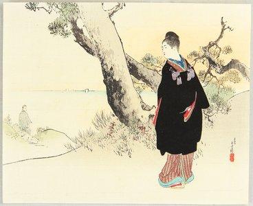 Mizuno Toshikata: Woman in Black - Artelino
