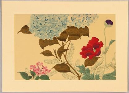 Sakai Hoitsu: Hydrangea and Poppy - Artelino