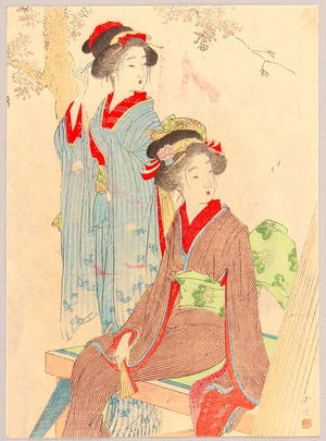 Odake Chikuha: Beauties and Cherry Blossoms - Artelino