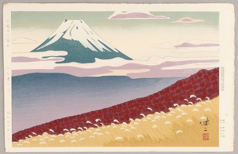 日下賢二: Mt.Fuji seen from Jukkoku Pass - Artelino