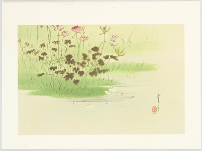 Watanabe Seitei: Crown Vetch on Marsh - Artelino