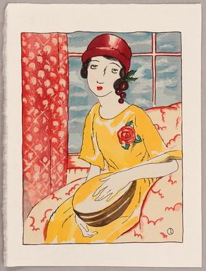 Takehisa Yumeji: Girl in the Evening. - Artelino