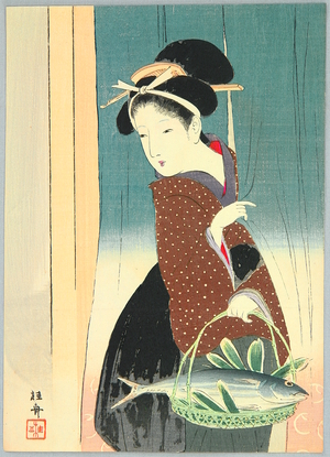 Takeuchi Keishu: Lady and Fish - Artelino