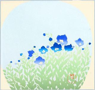 Odake Chikuha: Blue Bell Flowers - Artelino