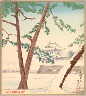 Tokuriki Tomikichiro: Nijo Castle - 20 Views of Kyoto - Artelino