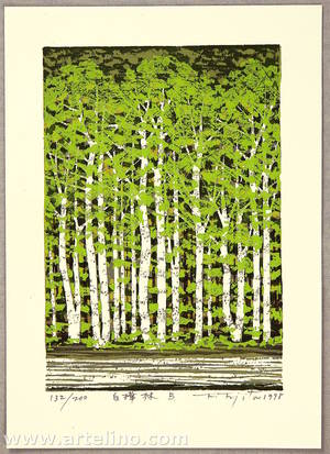 Kitaoka Fumio: Grove of White Birch B - Artelino