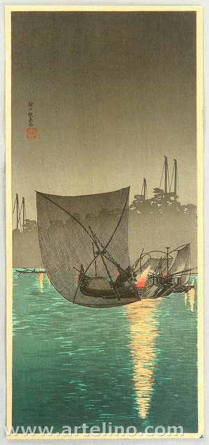 Takahashi Hiroaki: Night Fishing at Tsukuda - Artelino