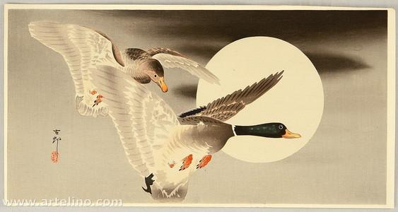 小原古邨: Two Ducks and the Moon - Artelino