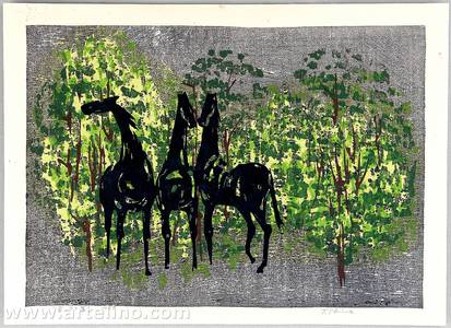 Shima Tamami: Horses in the Forest - Artelino