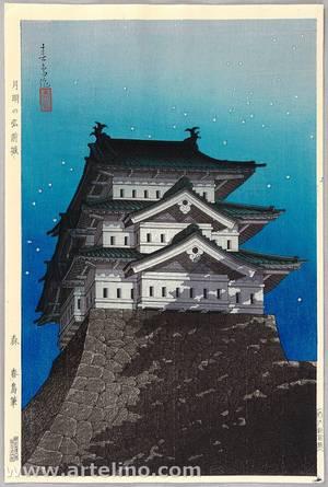 Unknown: Hirosaki Castle under the Moon - Artelino