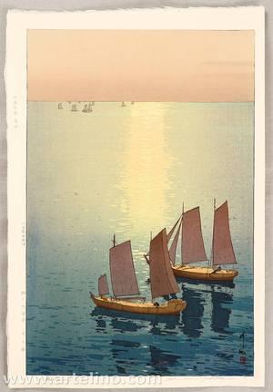 吉田博: Glittering Sea - The Inland Sea - Artelino