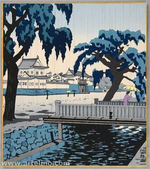 Ito Nisaburo: Nijo Castle in Rain - Artelino