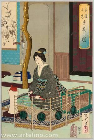 Mizuno Toshikata: Entertaining Guests : Tea Time - Artelino